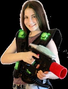 Zone Lasertag System Spielerin