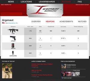 iCombat Lasertag Equipment online functions
