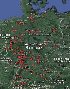 Deutschlandkarte Lasertag