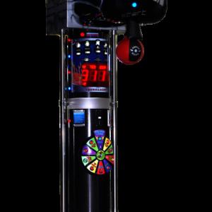 Boxautomat Modell Glove in der Farbe schwarz und zusätzlichem Glücksrad, das Freispiel auslöst