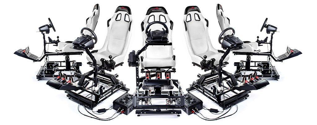 Fünf VR Motion Platforms