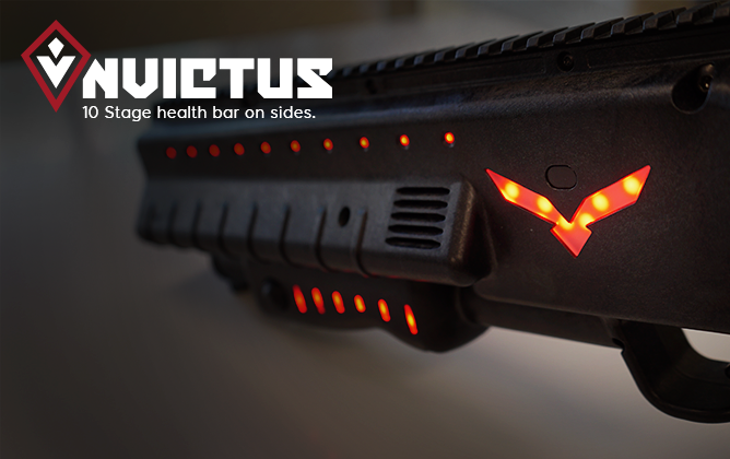 Multicolor LEDs on Invictus Lasertag System